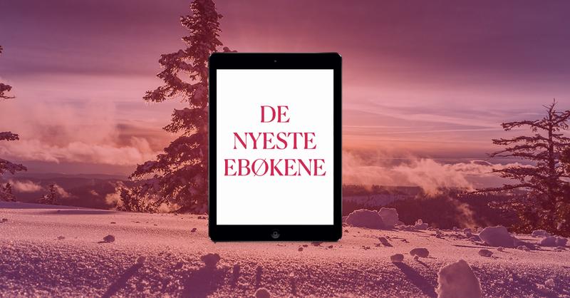 Banner med bilde av snø, grantrær og en iPad med påskriften: de nyeste ebøkene